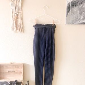Nasty Gal Pants & Jumpsuits - Set 'Em Straight Pinstripe Crop Top and Pants Set